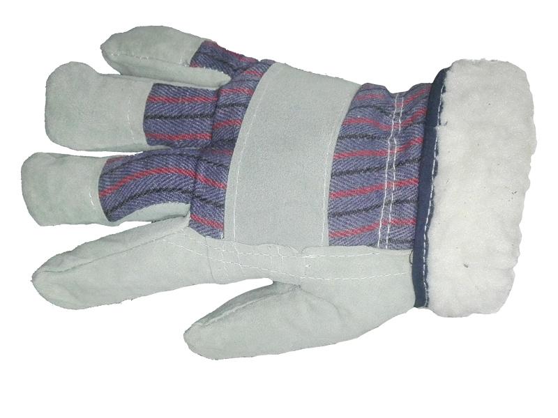 Перчатки спилковые комбинированные «Ангара» утепленные