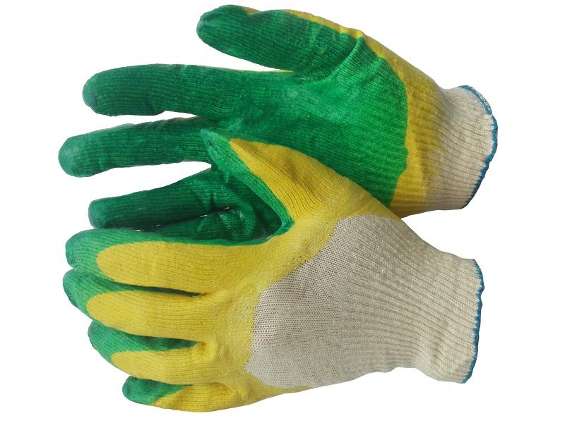 Перчатки х/б с двойным латексным покрытием (2-й облив) «ЛЮКС»