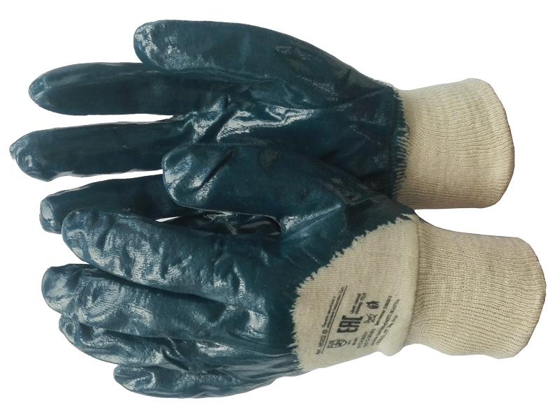 Перчатки нитриловые частичный облив «Лайт» (резинка)