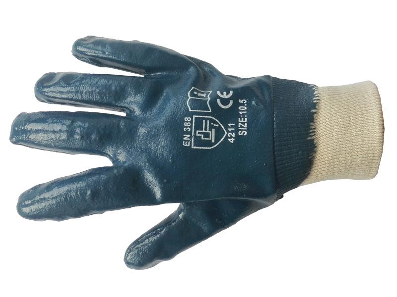 Перчатки нитриловые полный облив (резинка)