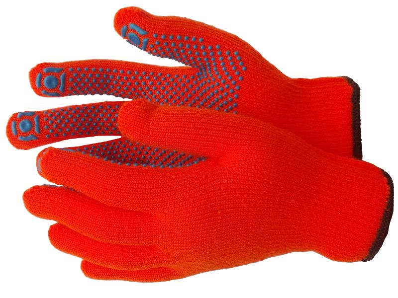 Перчатки акриловые с ПВХ покрытием («Оранж»)