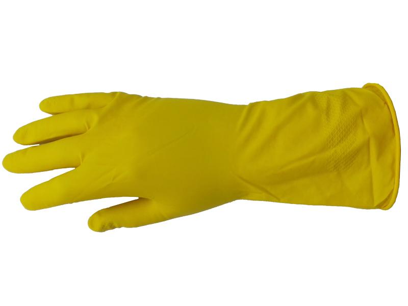Перчатки хозяйственные латексные