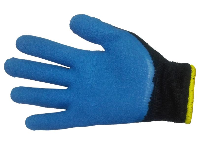 Перчатки махровые с рельефным латексным покрытием