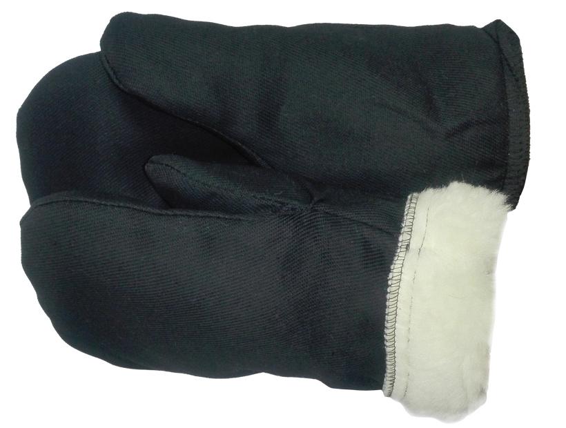 Рукавицы утепленные с шерстяным мехом (95% шерсти)