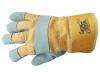 Перчатки спилковые комбинированные «Трал» с утеплителем