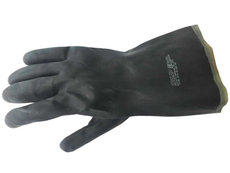 Перчатки кислотощелочестойкие КЩС тип 1
