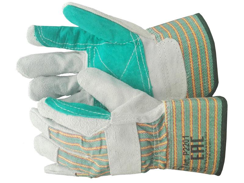 Перчатки спилковые комбинированные с усилением