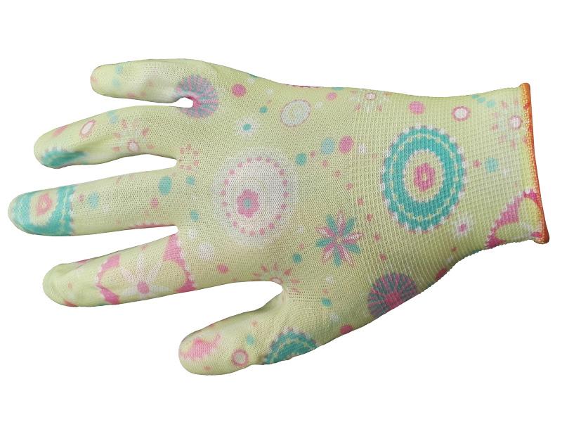 Перчатки нейлоновые садовые цветные