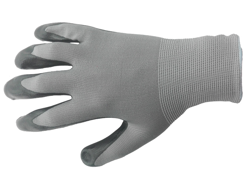 Перчатки нейлоновые с нитриловым покрытием Люкс 15 класс