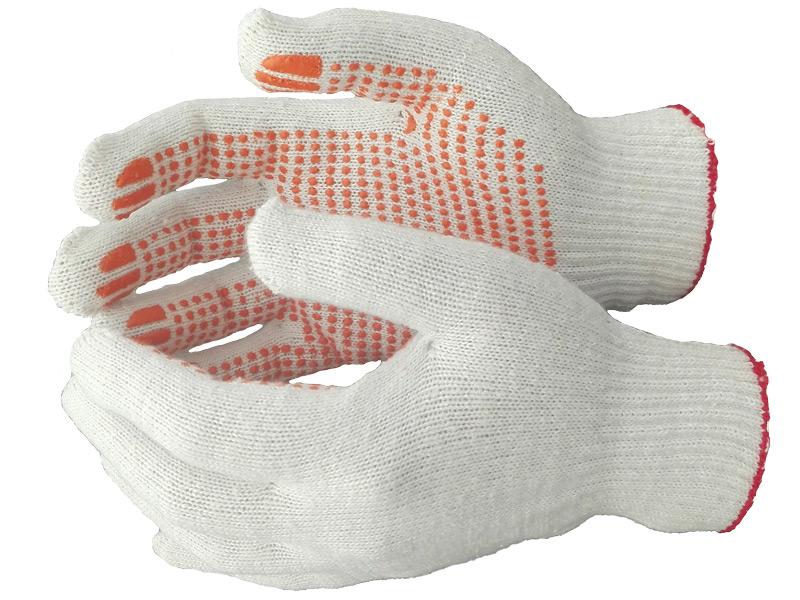 Перчатки 6-нитка 7,5 класс ПВХ