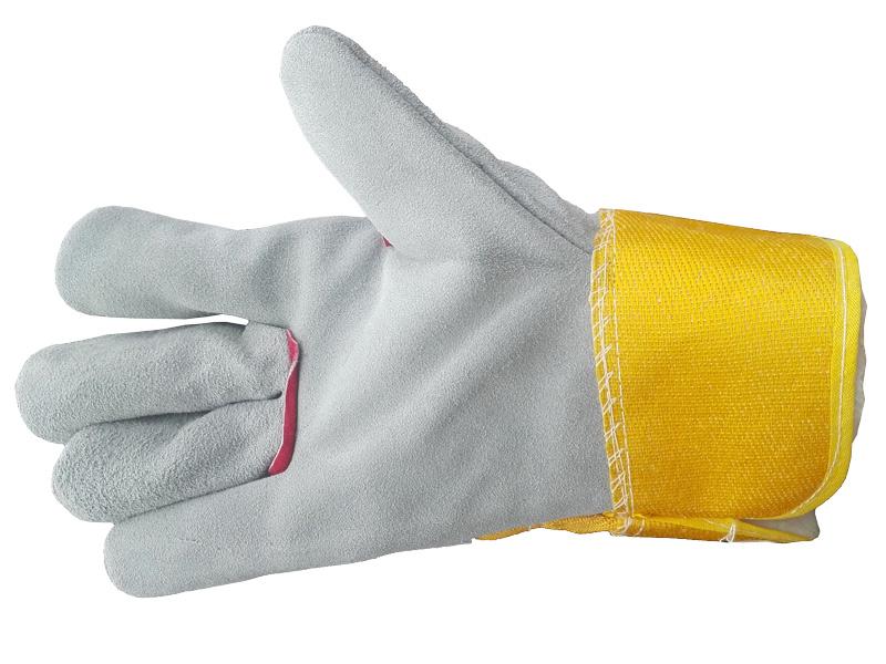 Перчатки спилковые комбинированные с утеплителем