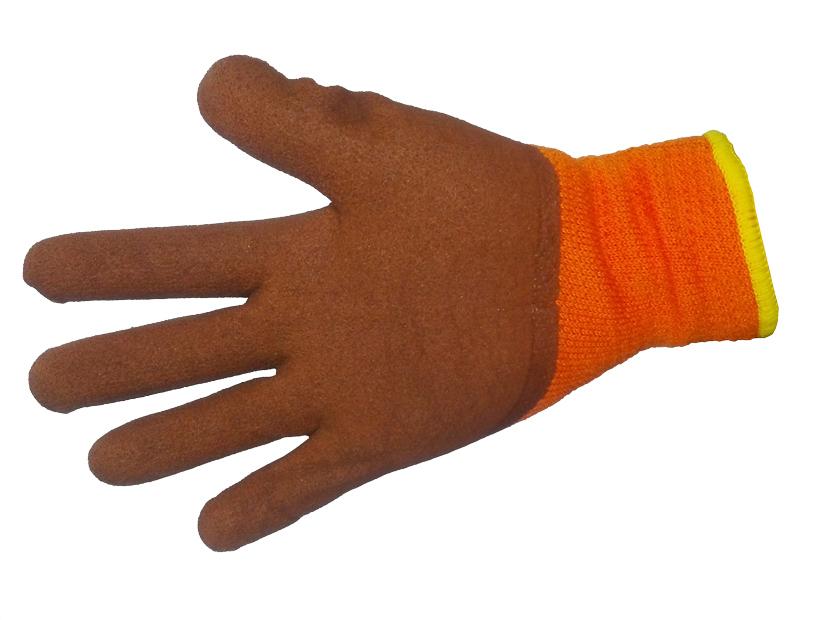 Перчатки акриловые с рельефным латексным покрытием глубокий облив (Китай)