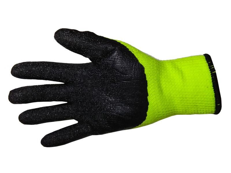 Перчатки акриловые с рельефным латексным покрытием стандарт (Китай)