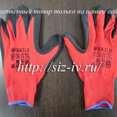 Качественные перчатки нейлоновые с пвх